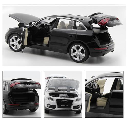Audi Q5 Mô hình ô tô bằng sắt mở cửa có âm thanh và đèn tỉ lệ 1:32