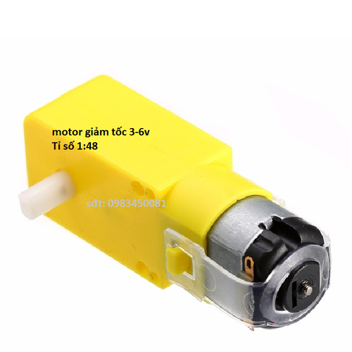 2 Chiếc Động cơ giảm tốc V1 DC MOTOR màu vàng 3-6V chuyên chế các loại robot đơn giản  và các mô hình như ô tô, xe tăng...