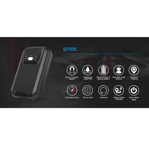 Thiết Bị Định Vị GPS Xe Máy GT03C Hỗ Trợ Pin 5000mAh