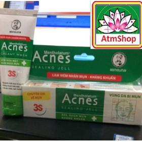 Kem trị mụn - 2 Bộ kem và sữa rửa mặt - atmshop - atmshop-acness