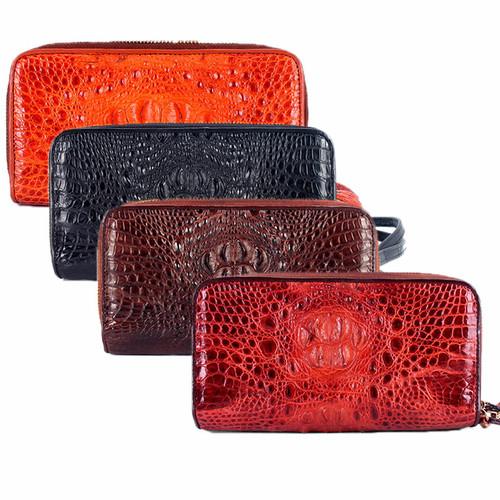 Bóp da cá sấu Huy Hoàng 2 khóa nguyên con nhiều màu SH3260-61-62-63
