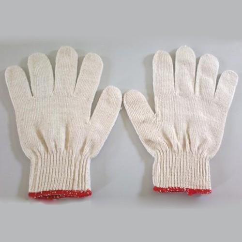 Sỉ 10 đôi găng tay bảo hộ lao động sợi trắng