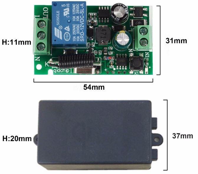 Bộ điều khiển thiết bị điện từ xa 220V 1 kênh 3