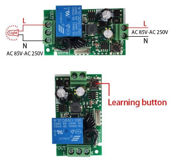 Bộ điều khiển thiết bị điện từ xa 220V 1 kênh 4