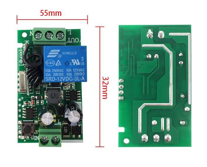 Bộ điều khiển thiết bị điện từ xa 220V 1 kênh 5