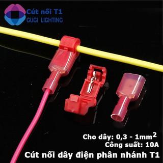 Combo 50 cút nối dây điện phân nhánh chữ T cho dây từ 0.3 - 1mm2 T1 - SP0071 thumbnail