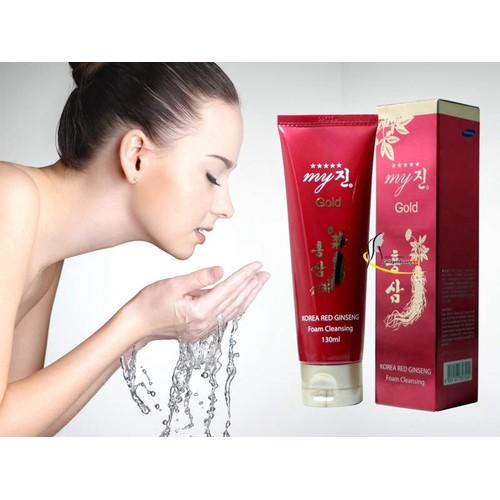 Sữa rửa mặt sâm đỏ Hàn quốc, tặng kèm 1 đôi mặt nạ mắt collagen