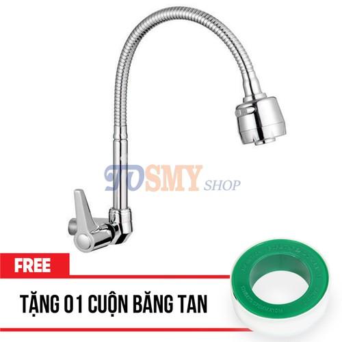 Vòi rửa chén lạnh âm tường cần lò xo CL14B - Vòi rửa bát