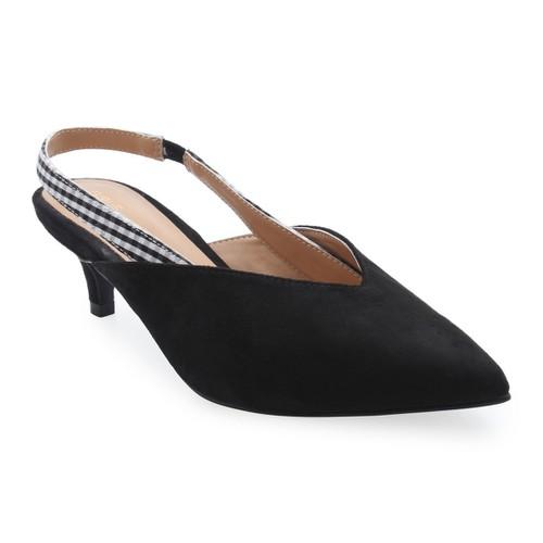 Giày cao gót bít mũi hở quai hậu S33103