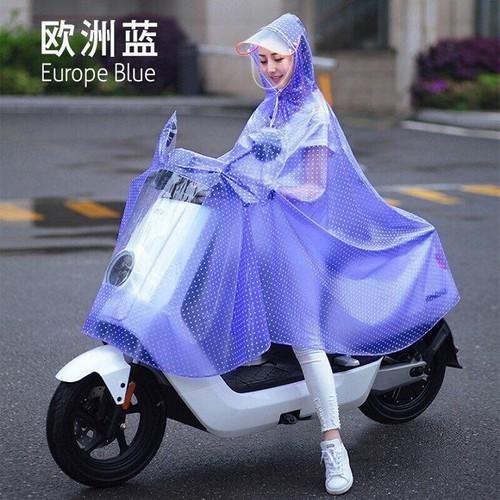 Áo mưa chấm bi có kính