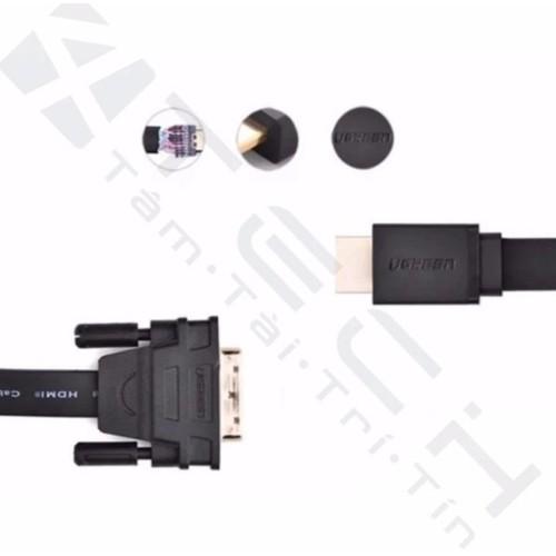 Cáp HDMI to DVI mỏng dẹt dài 8m Ugreen 30139.