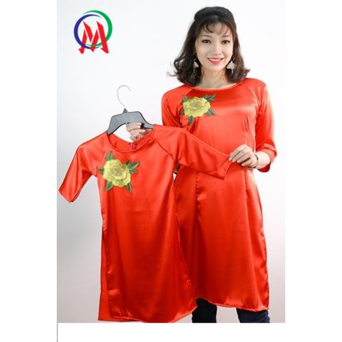 Set áo dài mẹ bé kèm chân váy - 5193464 , 11485340 , 15_11485340 , 319000 , Set-ao-dai-me-be-kem-chan-vay-15_11485340 , sendo.vn , Set áo dài mẹ bé kèm chân váy