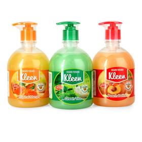 Nước rửa tay diệt khuẩn Kleen trà xanh đào xoài chai 500ml - RT10