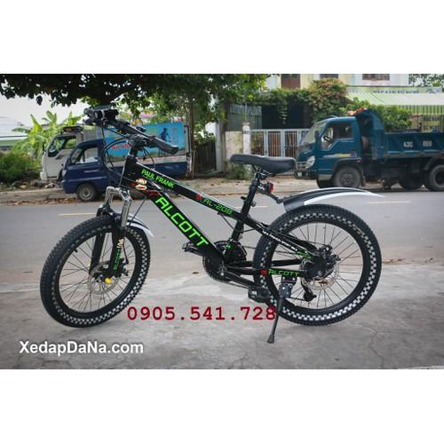 xe đạp địa hình Alcott 208 dành cho trẻ em cấp 1 màu xanh chuối