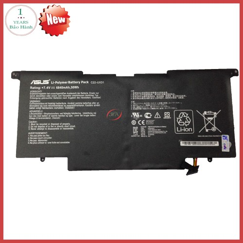 Pin Laptop Asus Zenbook UX31AR4003P