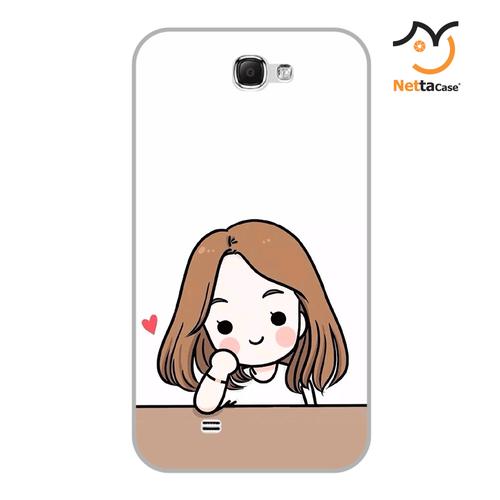 Ốp lưng điện thoại Samsung Note 2 - Couple Girl 03