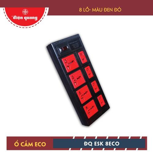 Ổ cắm Điện Quang ECO ĐQ ESK 2BR 8ECO - 8 Lỗ, dây 2m, đen đỏ - 5191789 , 11483243 , 15_11483243 , 120300 , O-cam-Dien-Quang-ECO-DQ-ESK-2BR-8ECO-8-Lo-day-2m-den-do-15_11483243 , sendo.vn , Ổ cắm Điện Quang ECO ĐQ ESK 2BR 8ECO - 8 Lỗ, dây 2m, đen đỏ