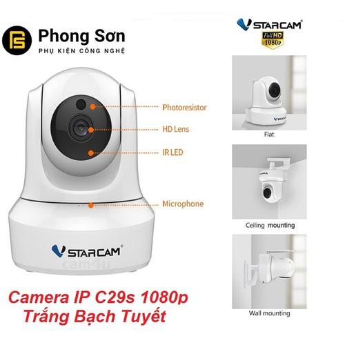 Camera Wifi IP C29s FHD1080p Vstarcam Trắng Bạch Tuyết