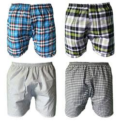 Bộ 4 quần đùi nam mặc nhà caro thể thao Pigo QDN01 -4- màu ngẫu nhiên
