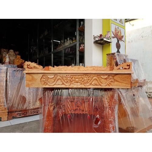 Bàn thờ treo tường gỗ xoan ngang 68 cm