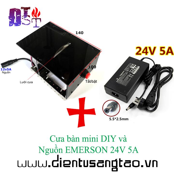 Bàn cưa mini DIY và nguồn EMERSON 24V 5A
