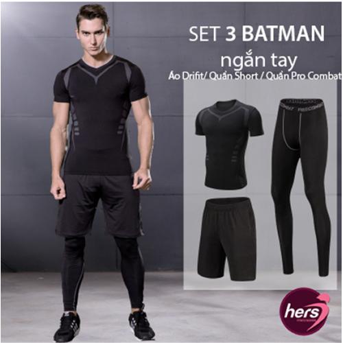 Bộ đồ tập gym nam Batman ngắn tay - 10864201 , 11633220 , 15_11633220 , 399000 , Bo-do-tap-gym-nam-Batman-ngan-tay-15_11633220 , sendo.vn , Bộ đồ tập gym nam Batman ngắn tay