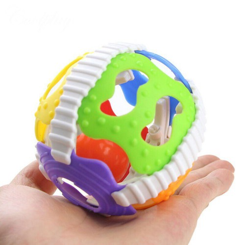 Banh nhựa mềm lục lạc Coolplay màu sắc cho bé