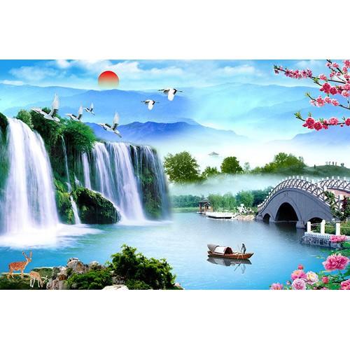 Tranh dán tường VTC Cảnh đẹp thiên nhiên QUOC-001 KT 220 x 145 cm KS