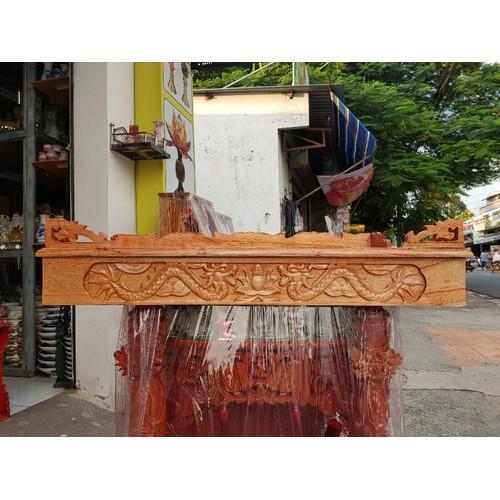 Bàn thờ treo tường gỗ xoan ngang 80 cm