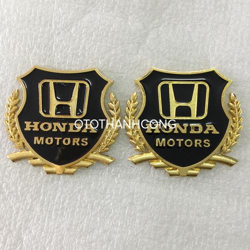 biểu tượng trang trí hông xe HONDA