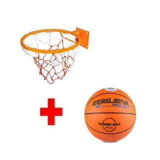 Combo Bộ Vành bóng rổ 30cm và Bóng rổ số 5 - Dành cho tiểu học thumbnail