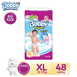 Tã quần siêu thấm Bobby XL48 size XL - 48 miếng