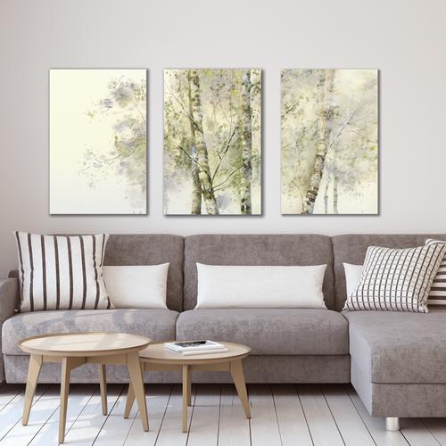 Bộ 3 tranh Canvas trang trí phòng ngủ - Khung hình Phạm Gia PGTK42