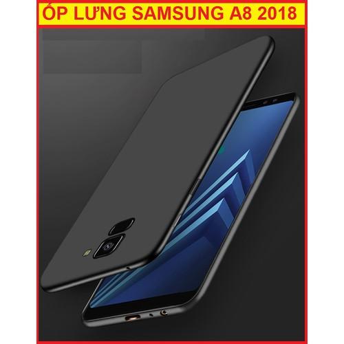 ỐP LƯNG SILICON SAMSUNG A8 2018 Đen