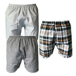 Bộ 3 quần đùi nam mặc nhà caro thể thao Pigo QDN01 -7- màu ngẫu nhiên