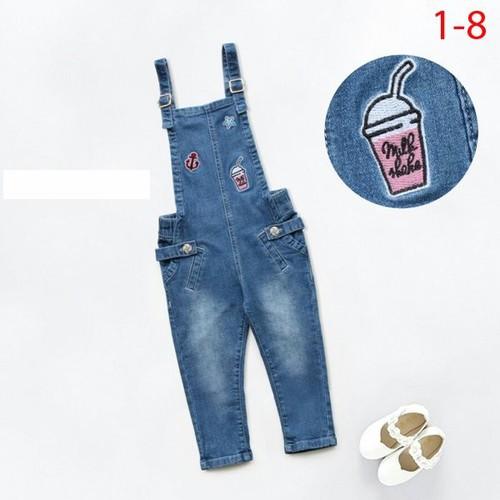 Quần yếm jean dài Nexxi cho bé 1-5 tuổi