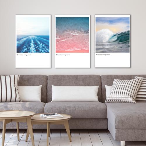 Bộ 3 tranh Canvas phong cách trang nhã - Khung hình Phạm Gia PGTK44