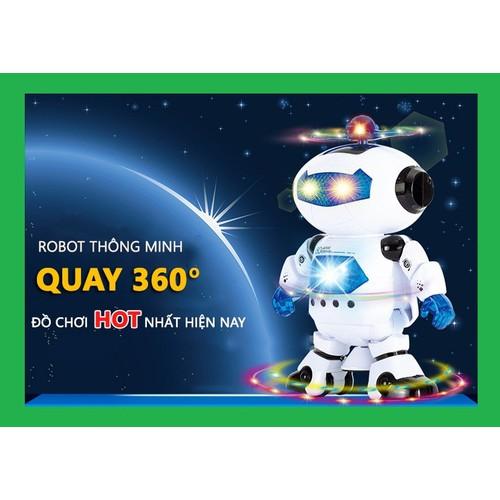 Robot thông minh xoay 360 độ có nhạc vui nhộn cho bé