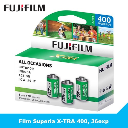 3 Cuộn Film Fujifilm Superia X-TRA 400, Phim máy ảnh 135 , 36exp