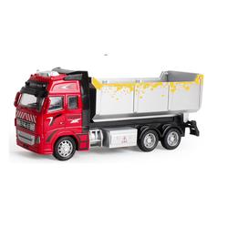 Xe ô tô tải chạy cót đồ chơi trẻ em đầu xe bằng sắt mô hình tỉ lệ 1:38