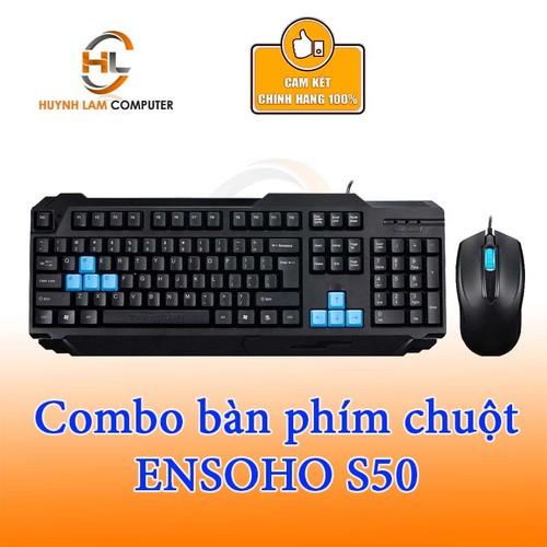 Bộ bàn phím chuột có dây Ensoho S50 đen - Anh Ngọc phân phối - 5307550 , 11644580 , 15_11644580 , 125000 , Bo-ban-phim-chuot-co-day-Ensoho-S50-den-Anh-Ngoc-phan-phoi-15_11644580 , sendo.vn , Bộ bàn phím chuột có dây Ensoho S50 đen - Anh Ngọc phân phối