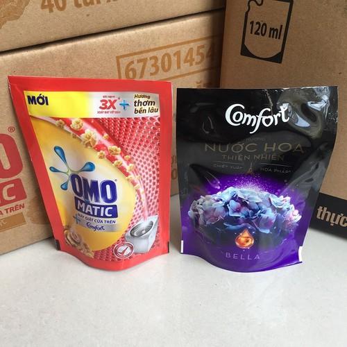 Combo Nước giặt OMO Matic 150g + Nước xả Comfort hương nước hoa 120ml