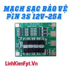 Linh kiện điện tử Mạch Sạc Bảo Vệ Pin , Sạc Cân Bằng Cell 3S 12v ‑ 25A