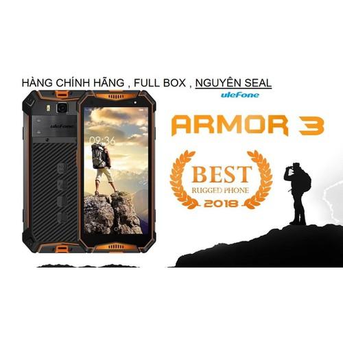 Điện thoại ULEFONE ARMOR 3 CHỐNG NƯỚC,CHỐNG VA ĐẬP,RAM 4GB,ROM 64GB,PIN 10.300mAh