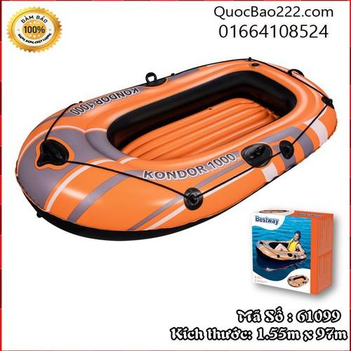 Thuyền hơi cá nhân cho bé vui chơi màu cam 1.55m x 97m - Bestway 61099