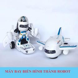 Đồ chơi máy bay biến hình thành robot phát nhạc vui nhộn và nháy đèn