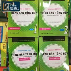 Combo Tiếng Hàn Tổng Hợp 1 + 2, Sách, Bài Tập, CD