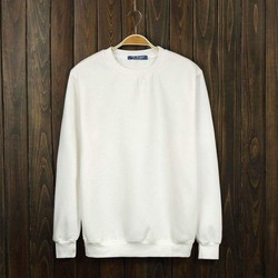 Áo Sweater Trắng trơn - Sweater White - Sweater basic White Unisex