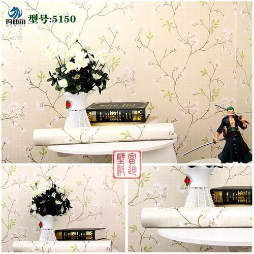 giấy dán tường - decal dán tường - một cành mai xanh