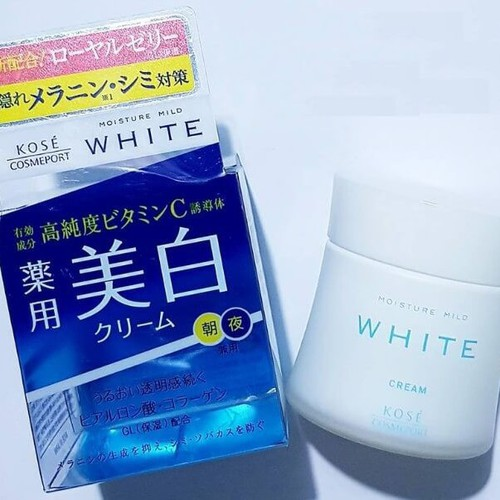 Kem dưỡng trắng da ban đêm Kose Moisture Mild White - 5310188 , 11648370 , 15_11648370 , 275000 , Kem-duong-trang-da-ban-dem-Kose-Moisture-Mild-White-15_11648370 , sendo.vn , Kem dưỡng trắng da ban đêm Kose Moisture Mild White